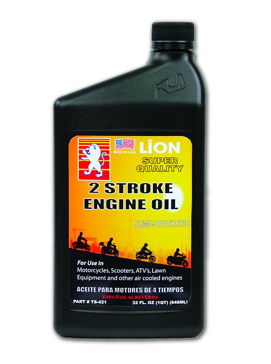 Tc 421 lion 2 stroke semi synthetic motor oil lion for Semi synthetic motor oil