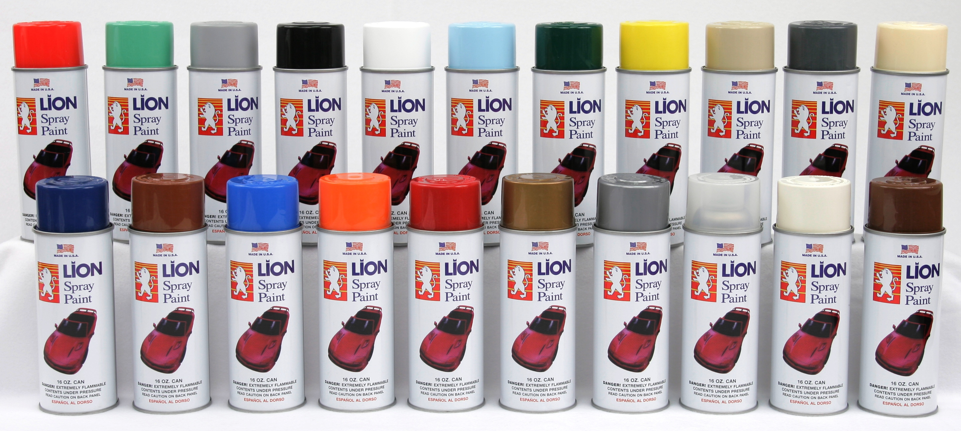 Lion Spray Paint Lion Aersol Paint Lion Automotive Car Care Products Saria International Inc